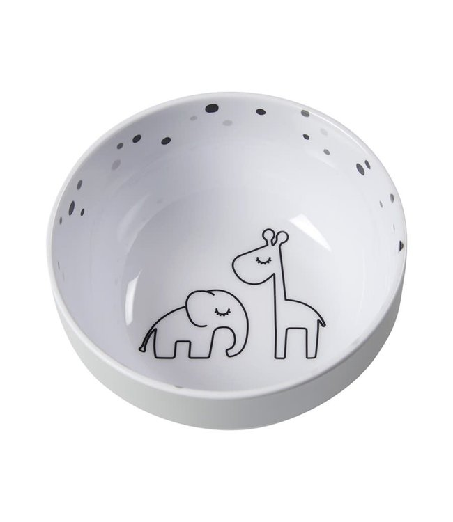 Done By Deer Yummy Mini Bowl Dreamy Dots Grey