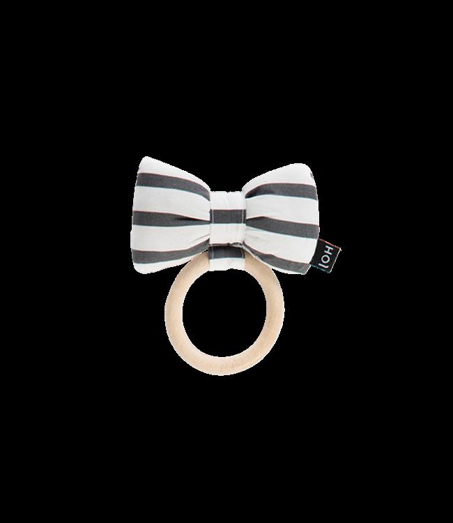 House Of Jamie Teething Ring Bow Tie Breton