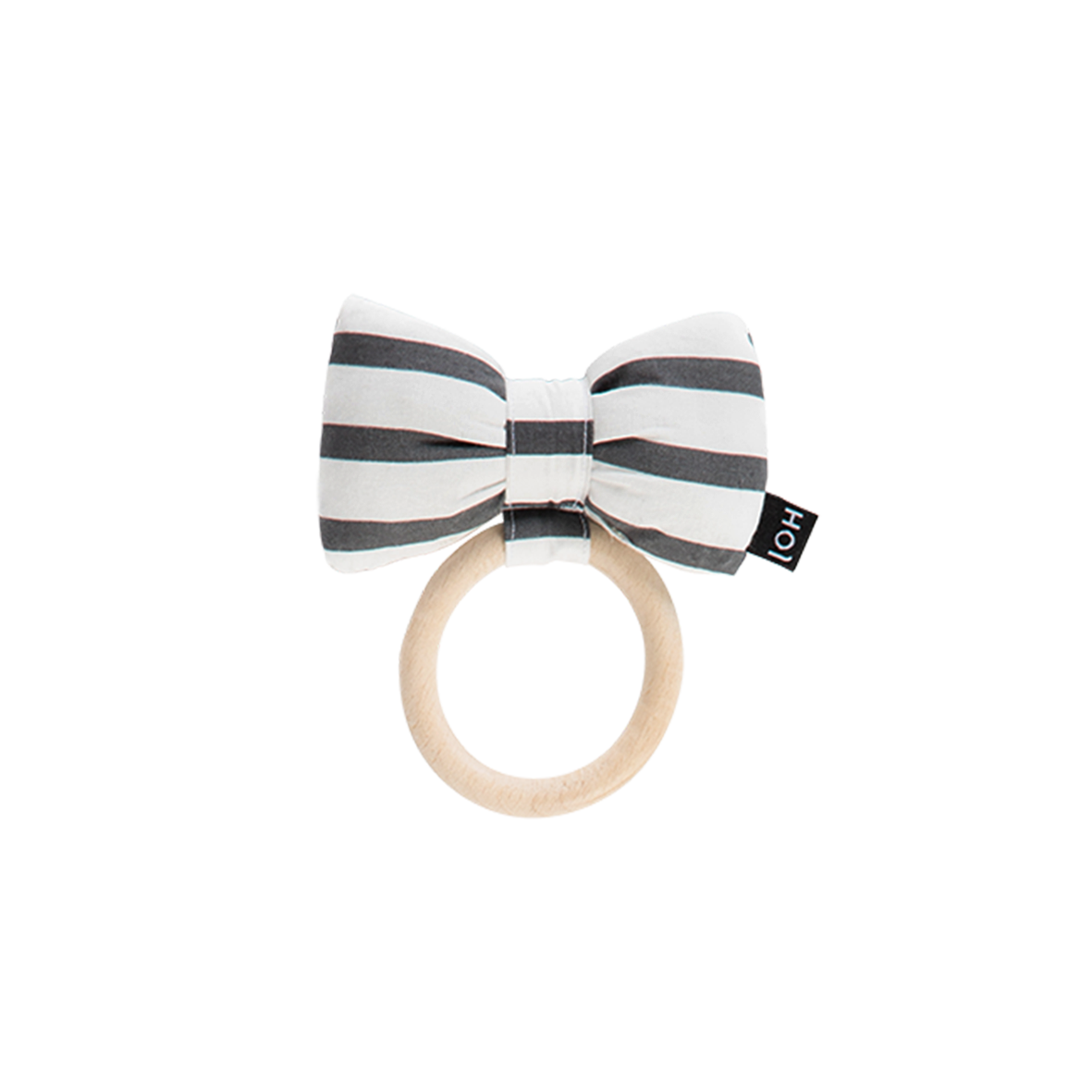 House Of Jamie Teething Ring Bow Tie Breton