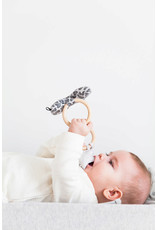 House Of Jamie Teething Ring Bow Tie Rocky Leopard