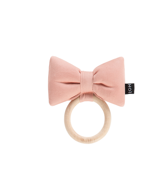 House Of Jamie Teething Ring Bow Tie Powder