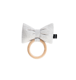 House Of Jamie Teething Ring Bow Tie Stone