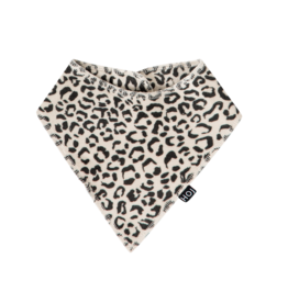 House Of Jamie Burp Bib Snow leopard Velvet