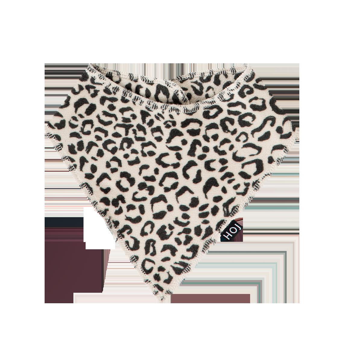 House Of Jamie Burp Bib Snow leopard Velvet