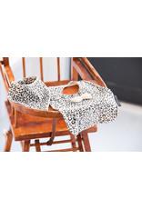 House Of Jamie Bow Tie Bib Snow leopard Velvet