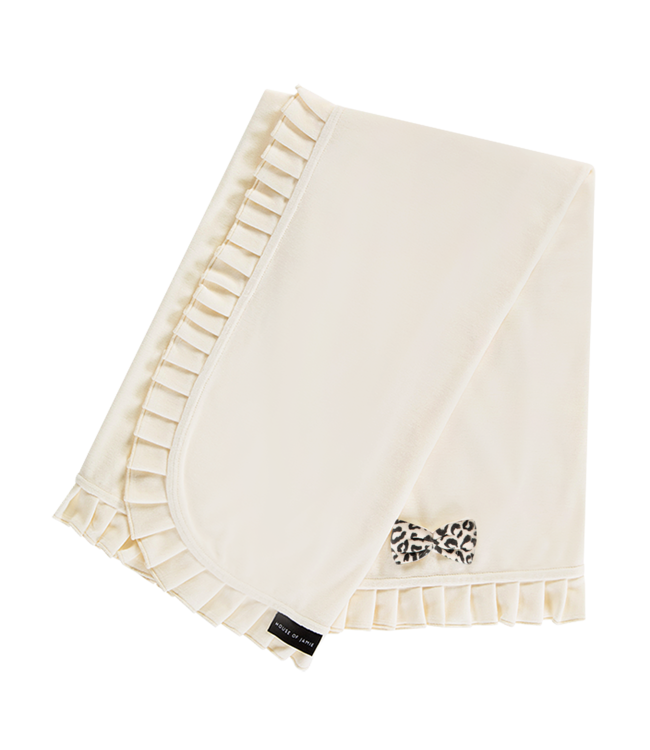 House Of Jamie Blanket Cream Velvet 100x90cm