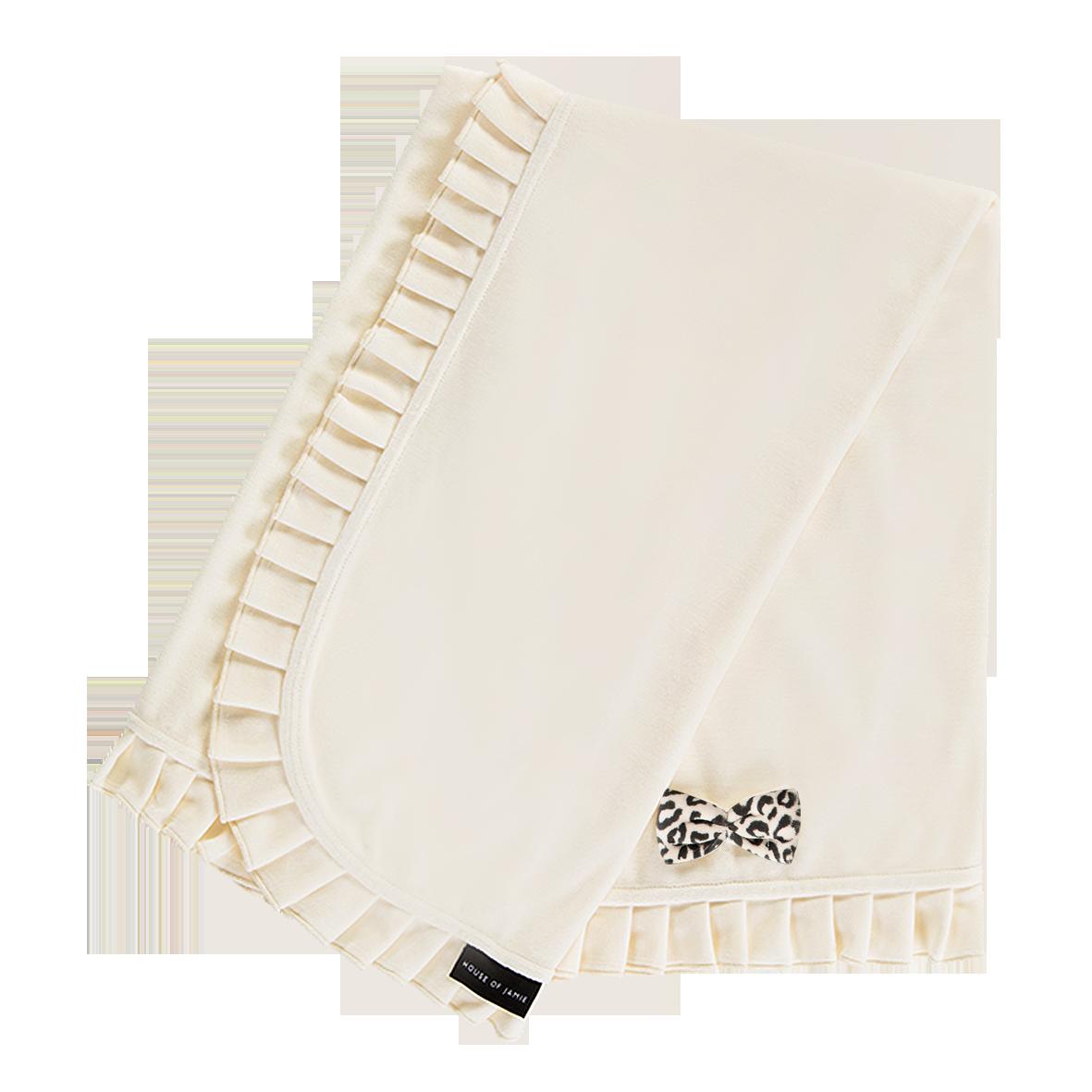 House Of Jamie Blanket Cream Velvet 100x90cm
