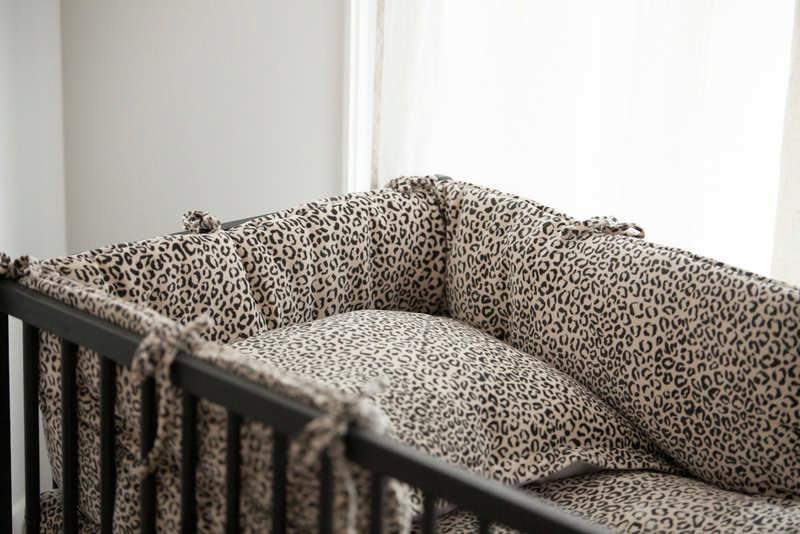 House Of Jamie Dekbedovertrek Snow Leopard Velvet 100x135cm