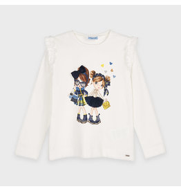 Mayoral Doll Shirt L/S Marino