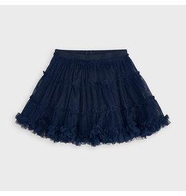 Mayoral Tulle Glitter Skirt Navy