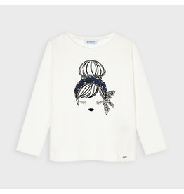 Mayoral Doll Tee L/S Navy