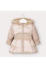 Mayoral Coat Fake Fur Golden