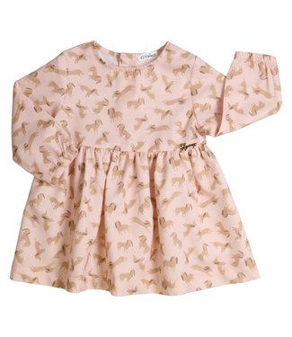 Gymp Doggy Printed Dress Vieux Rose