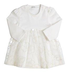 Gymp Off White Dress Jersey Lace