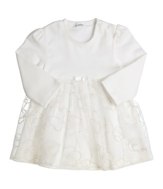 Gymp Off White Dress Jersey Lace