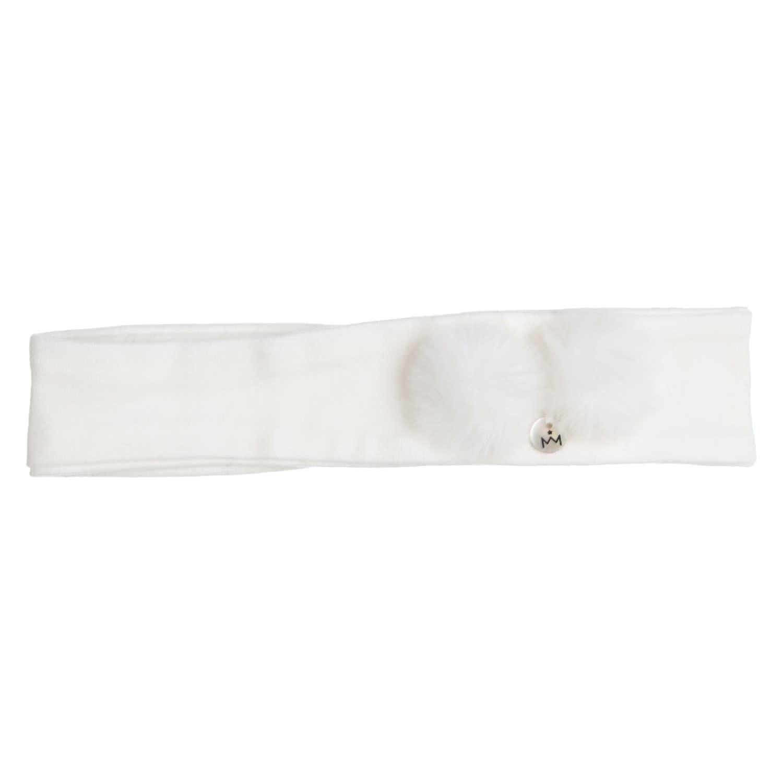 Gymp Headband Off-White Fake Fur Pompom
