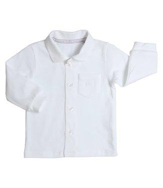 Gymp Polo White Long Sleeve