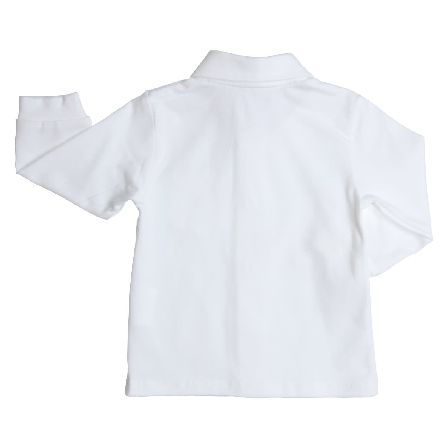 Gymp Polo White Long Sleeve