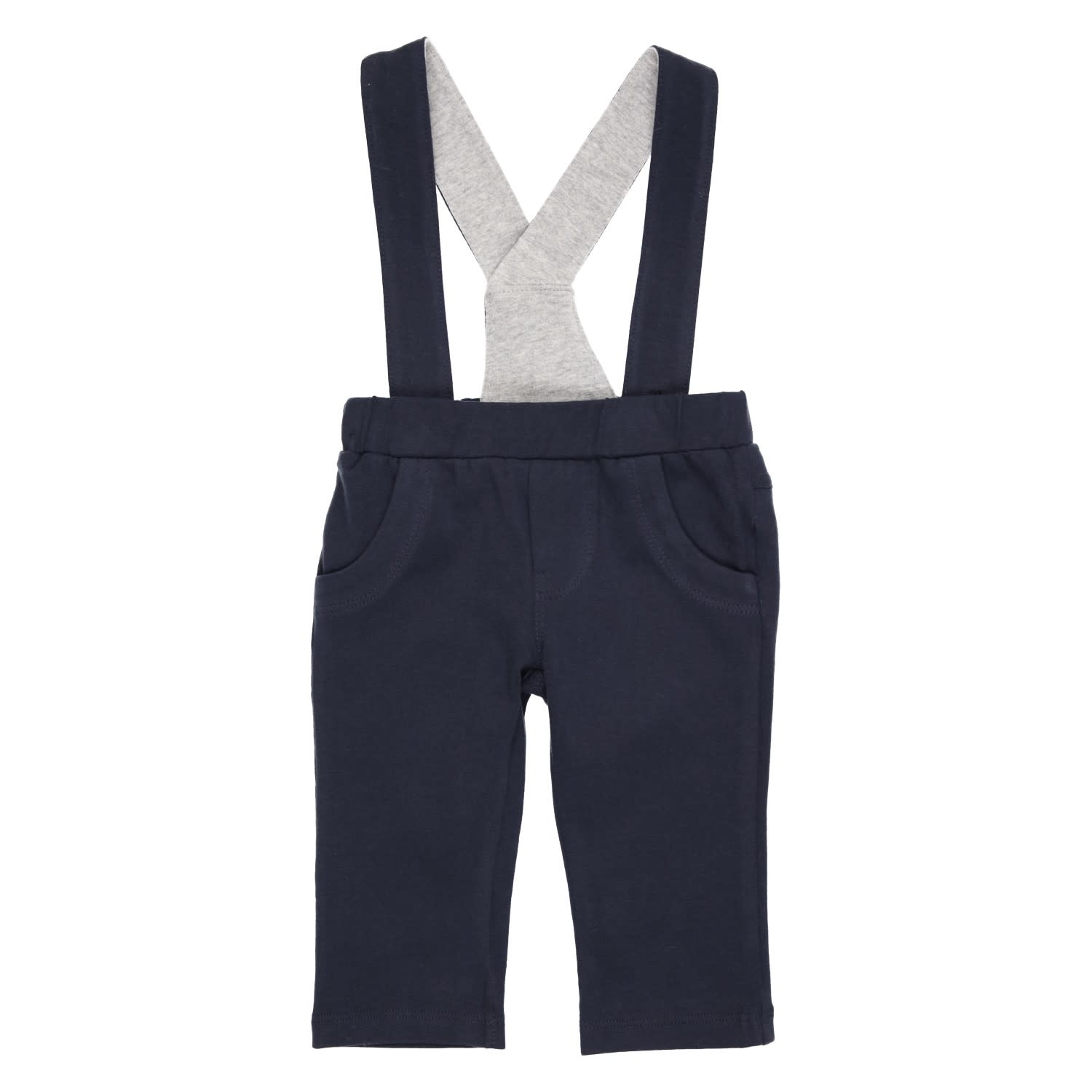 Gymp Jersey Pants With Suspender Navy