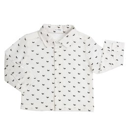 Gymp Shirt Off White Dog Print Allover