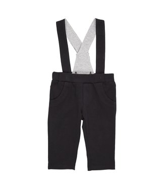 Gymp Jersey Pants With Suspender Black