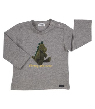 Gymp Strong And Cute Tee Grey Long Sleeve