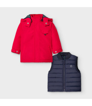 Mayoral Reversible Coat Red