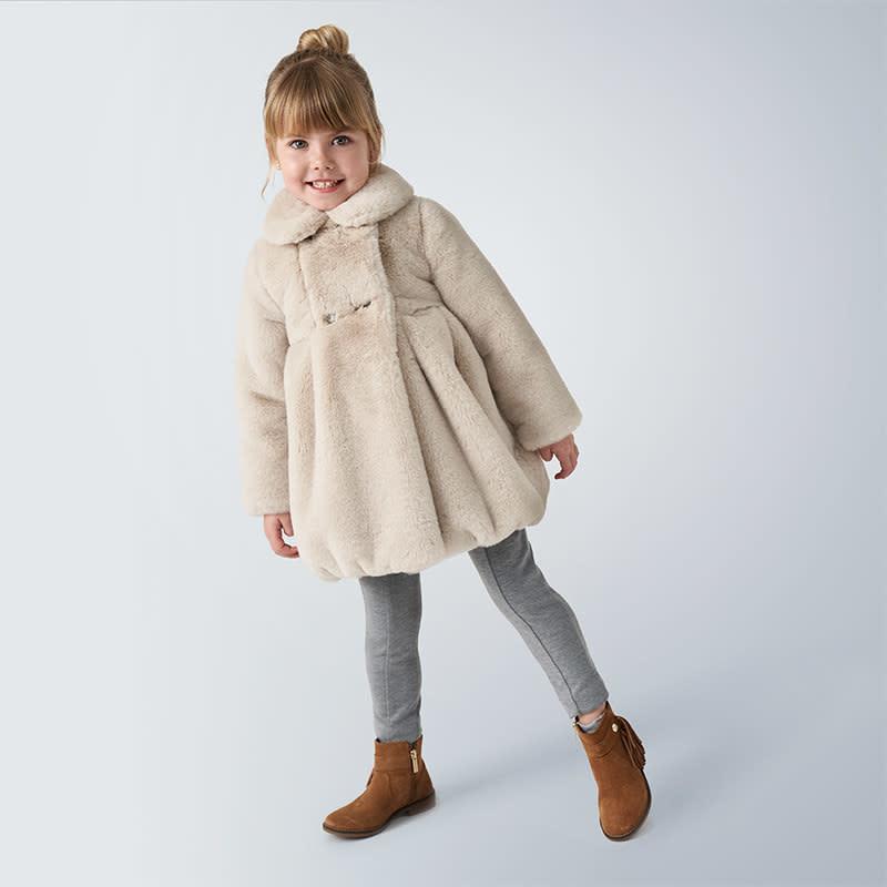Mayoral Fur Coat Stone