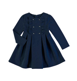 Mayoral Classy Navy Dress With Bow Button