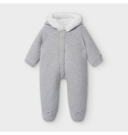 Mayoral Knit Overall Gray