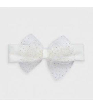 Mayoral Headband Bow Off white Sparkle