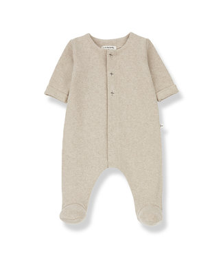 1+InTheFamily Odette Jumsuit With Feet Cream