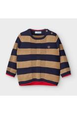 Mayoral Stripes Sweater Almond/Navy