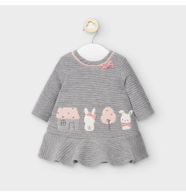 Mayoral Grey Structured Dress Bunny
