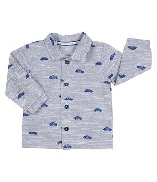 Gymp Shirt Blue Beatle Print