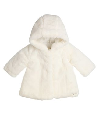 Gymp Coat Fake Fur Off White