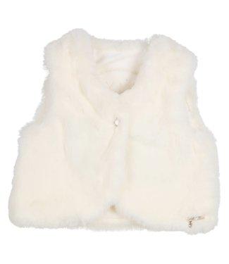 Gymp Gilet Fake Fur Off White