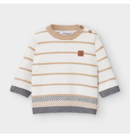 Mayoral Stripes Sweater Cream Beige