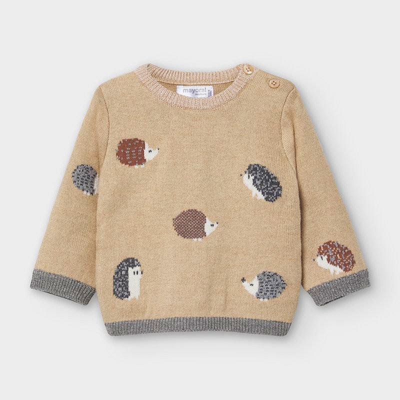 Mayoral Jaquard Sweater Sand Hedgehog