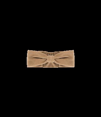 House Of Jamie Bow Tie Headband Biscuit Rib Velvet