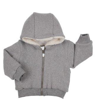 Gymp Knitted Grey Cardigan Teddy