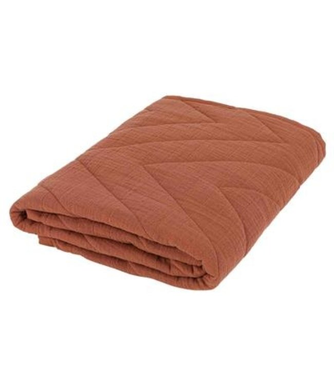 Les Rêves d'Anais Cotton Quilted Blanket 75 x 100cm Bliss Rust