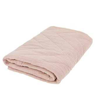 Les Rêves d'Anais Cotton Quilted Blanket 75 x 100cm Bliss Rose
