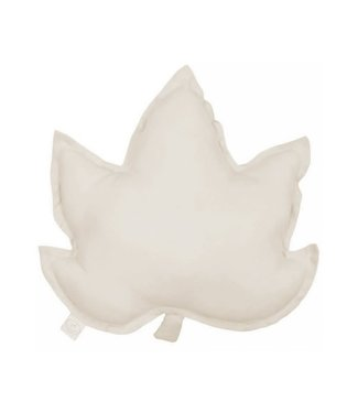 Cotton & Sweets Pure Nature Linen Maple Leaf Pillow Natural