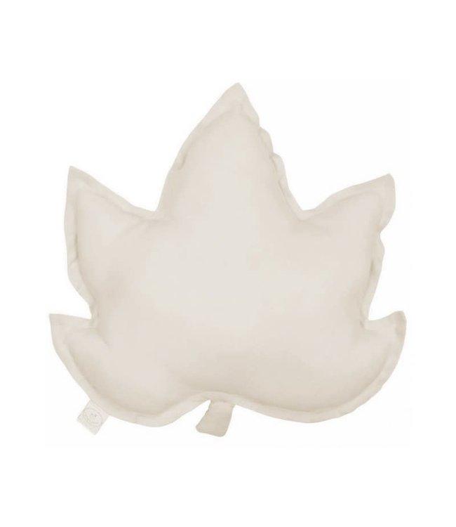 Cotton & Sweets Pure Nature Linen Maple Leaf Pillow Natural