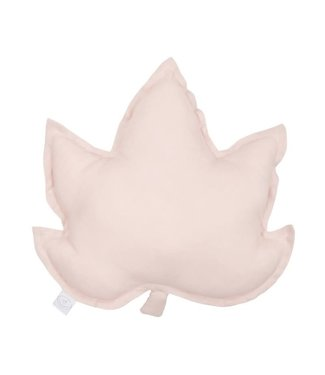 Cotton & Sweets Pure Nature Linen Maple Leaf Pillow Powder Pink
