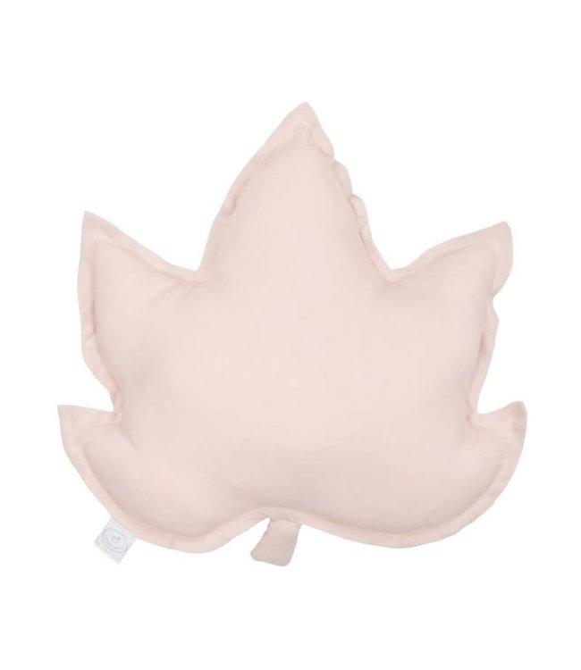 Cotton & Sweets Pure Nature Linen Maple Leaf Pillow Powder Pink