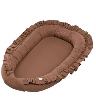 Cotton & Sweets Simply Glamour Babynest With Ruffles Chocolate