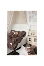 Cotton & Sweets Simply Glamour Bed Linen Junior With Ruffles Chocolate