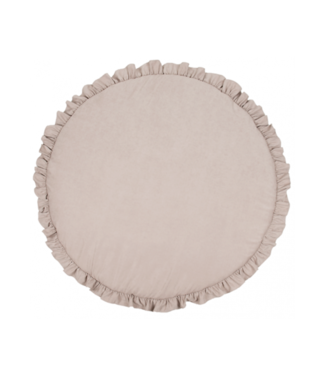 Cotton & Sweets Basic Playmat With Ruffles Dark Beige